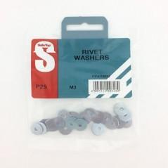 Pre Pack Rivet Washers M3 Quantity:25
