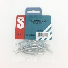 Pre Pack Aluminium Rivets 3.2mm X 12mm Quantity:25