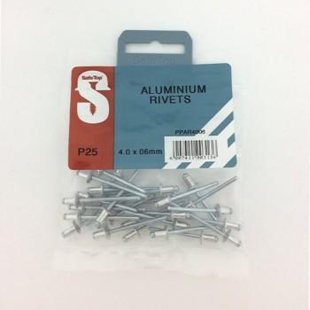 Pre Pack Aluminium Rivets 4.0mm X 6mm Quantity:25