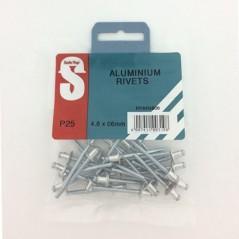 Pre Pack Aluminium Rivets 4.8mm X 6mm Quantity:25