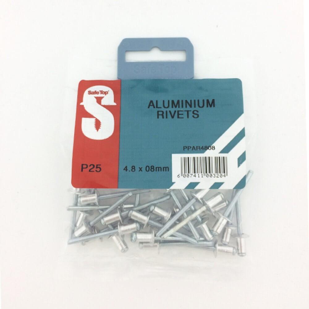Pre Pack Aluminium Rivets 4.8mm X 8mm Quantity:25