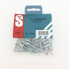 Pre Pack Aluminium Rivets 4.8mm X 10mm Quantity:25
