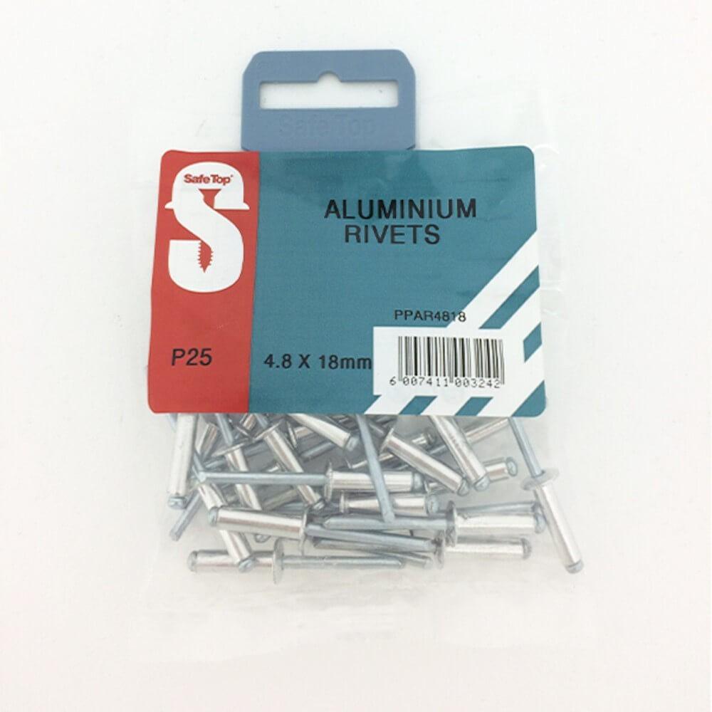 Pre Pack Aluminium Rivets 4.8mm X 18mm Quantity:25