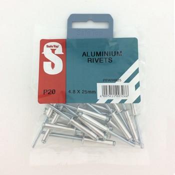 Pre Pack Aluminium Rivets 4.8mm X 25mm Quantity:20