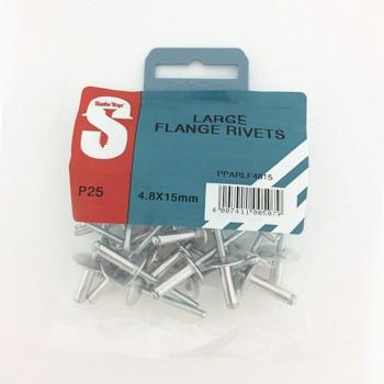 Pre Pack Large Flange Rivets 4.8mm X 15mm Quantity:25