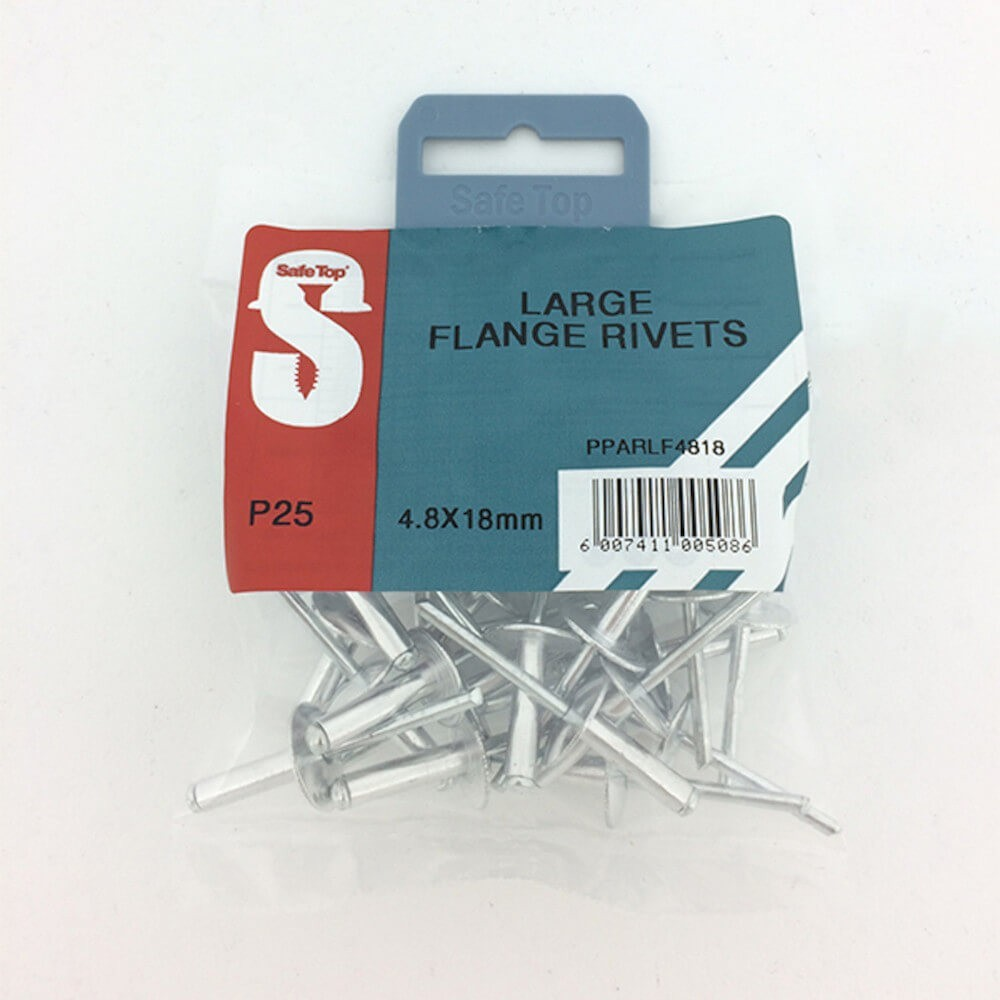 Pre Pack Large Flange Rivets 4.8mm X 18mm Quantity:25