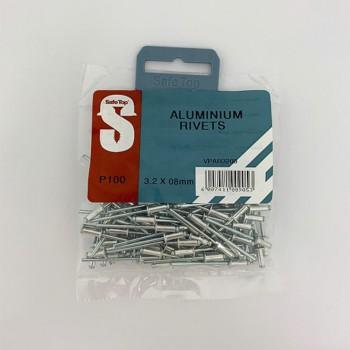 Value Pack Aluminium Rivets 3.2mm X 8mm Quantity:100