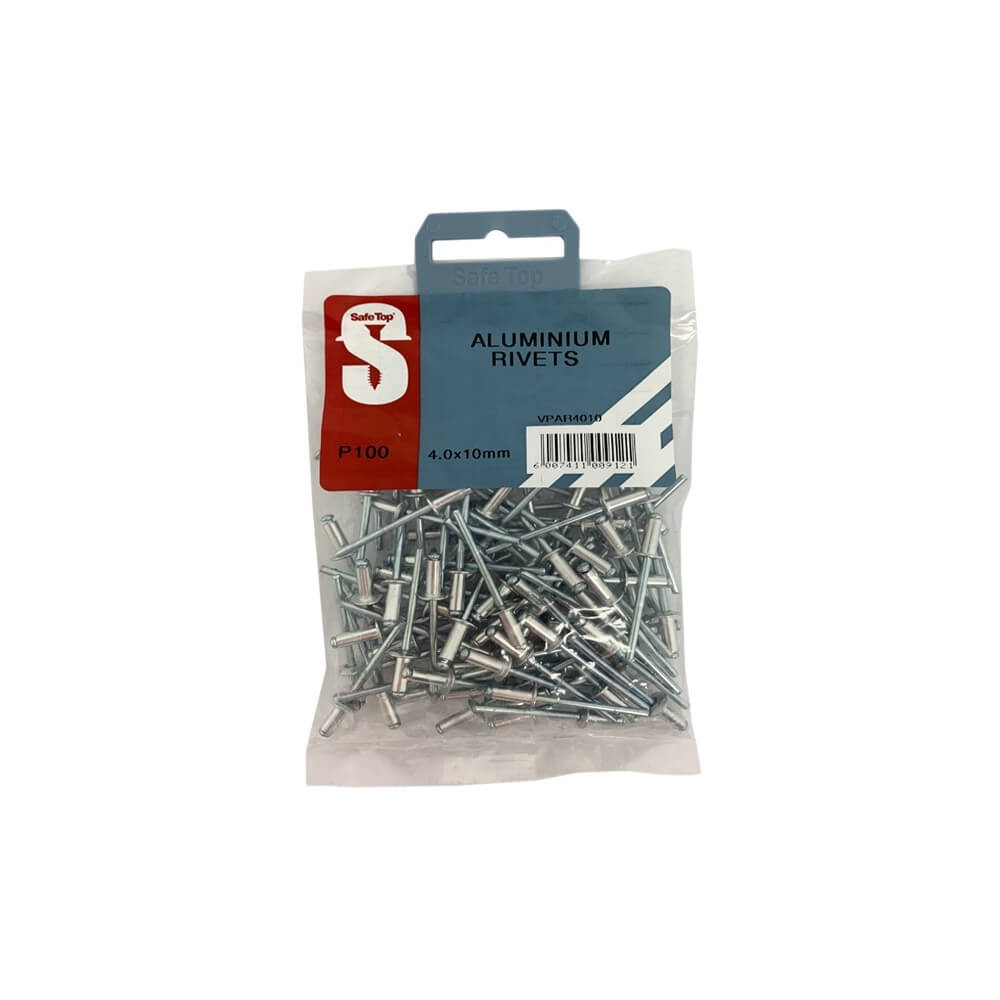 Value Pack Aluminium Rivets 4.0mm X 10mm Quantity:100