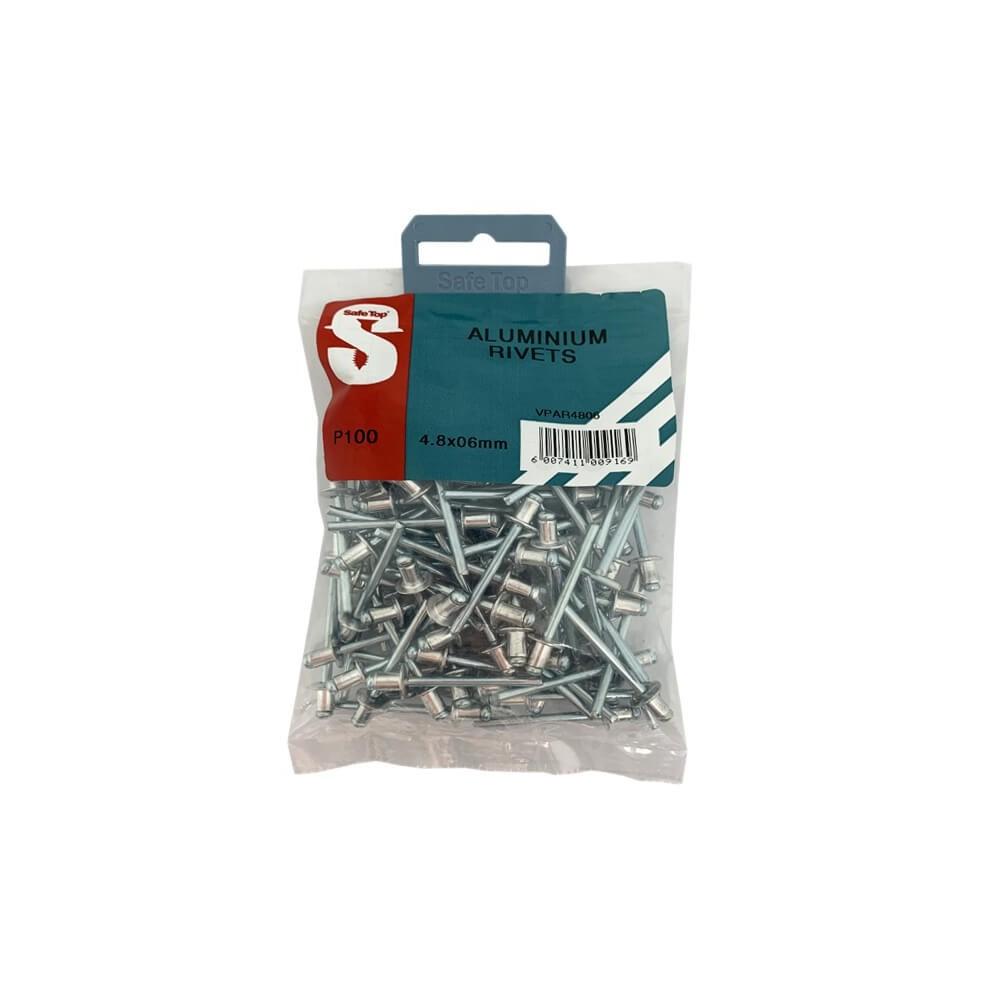 Value Pack Aluminium Rivets 4.8mm X 6mm Quantity:100