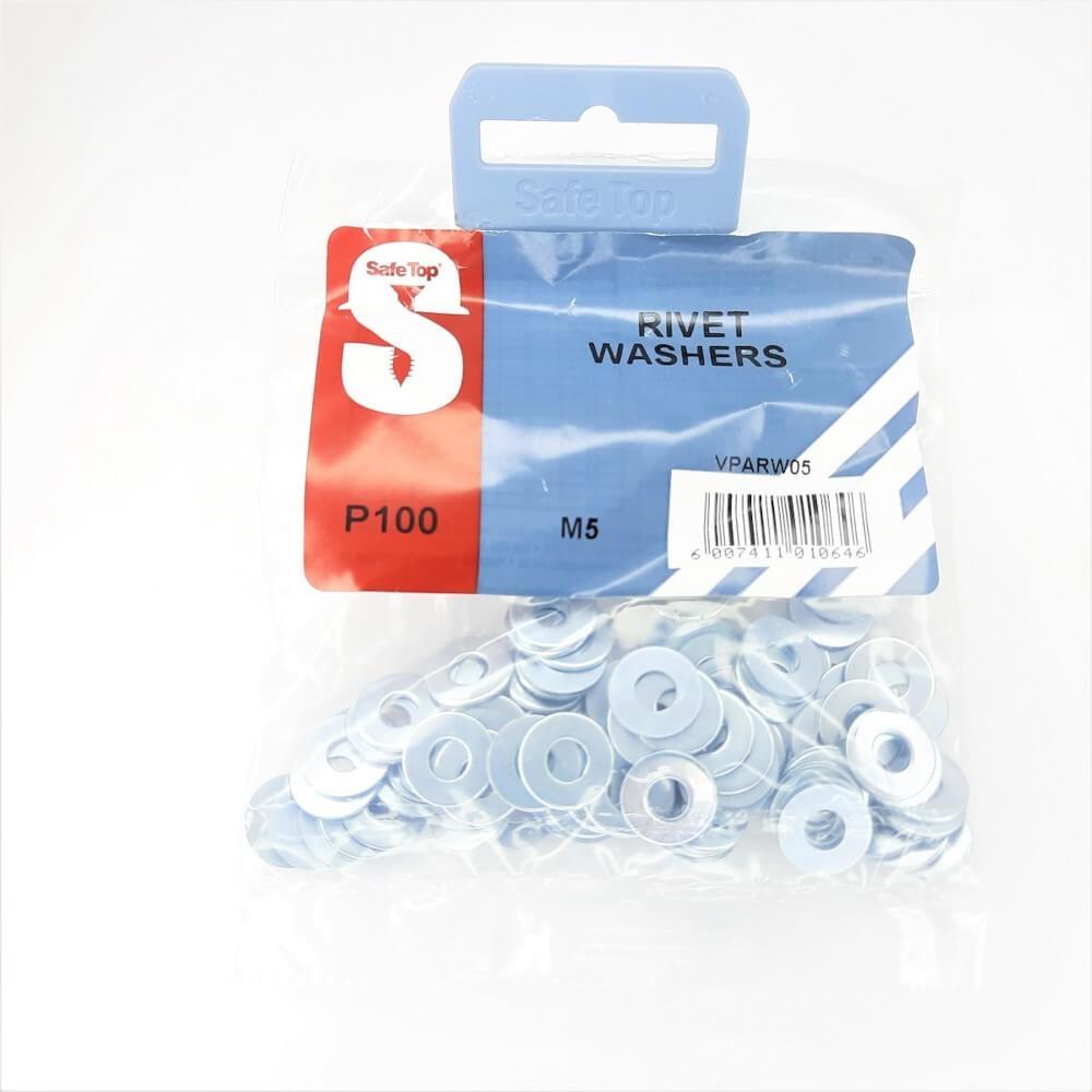 Value Pack Rivet Washers M5 Quantity:100