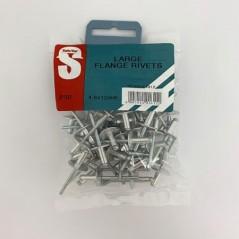 Value Pack Large Flange Rivets 4.8mm X 12mm Quantity:50