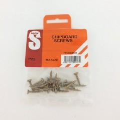 Pre Pack Chipboard Screws M3.5 X 20mm Quantity:25