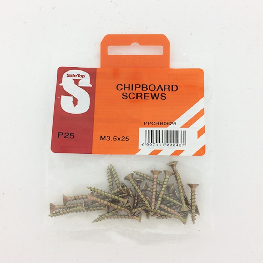 Pre Pack Chipboard Screws M3.5 X 25mm Quantity:25