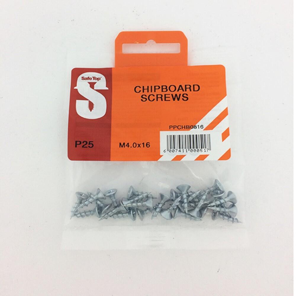 Pre Pack Chipboard Screws M4.0 X 16mm Quantity:25