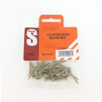 Pre Pack Chipboard Screws M4.0 X 25mm Quantity:25