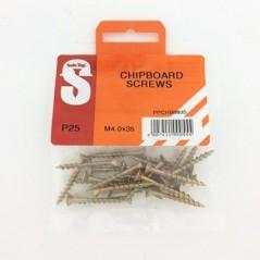 Pre Pack Chipboard Screws M4.0 X 35mm Quantity:25