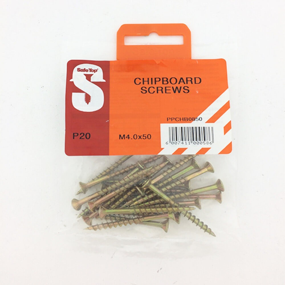 Pre Pack Chipboard Screws M4.0 X 50mm Quantity:20
