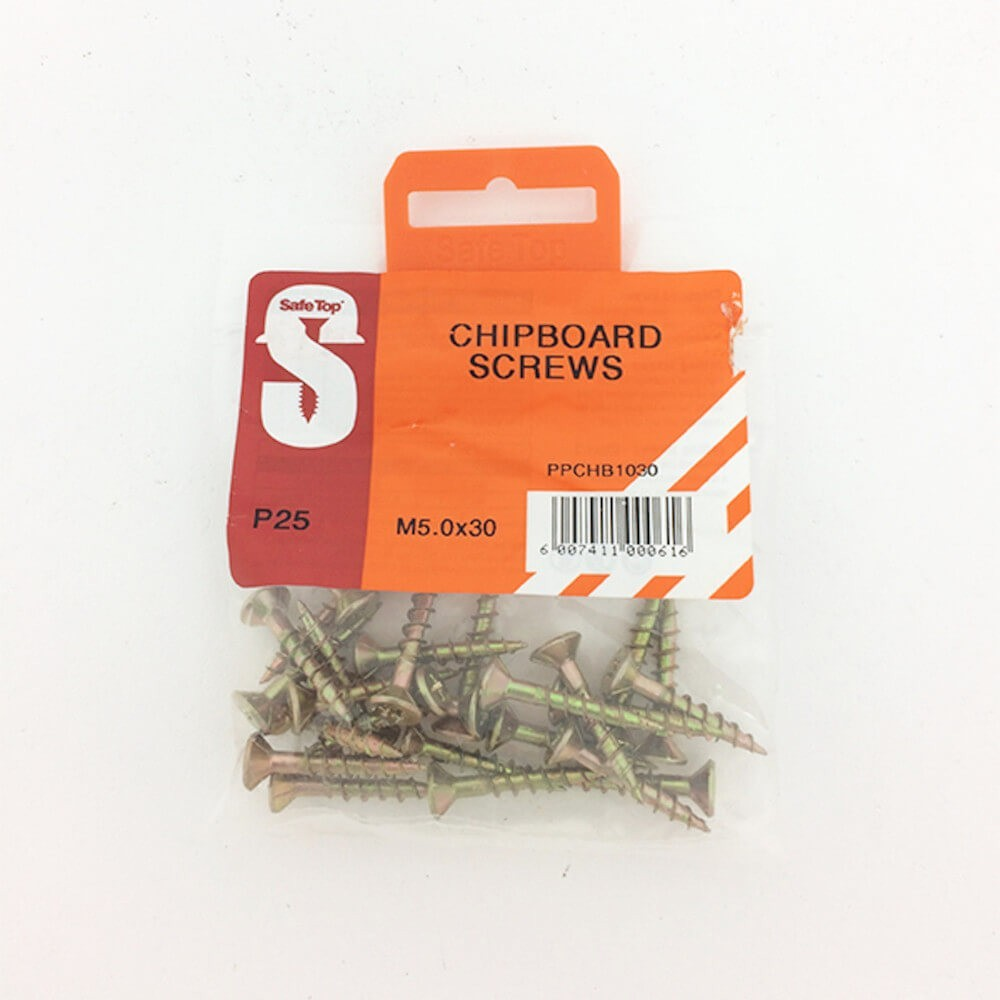 Pre Pack Chipboard Screws M5.0 X 30mm Quantity:25