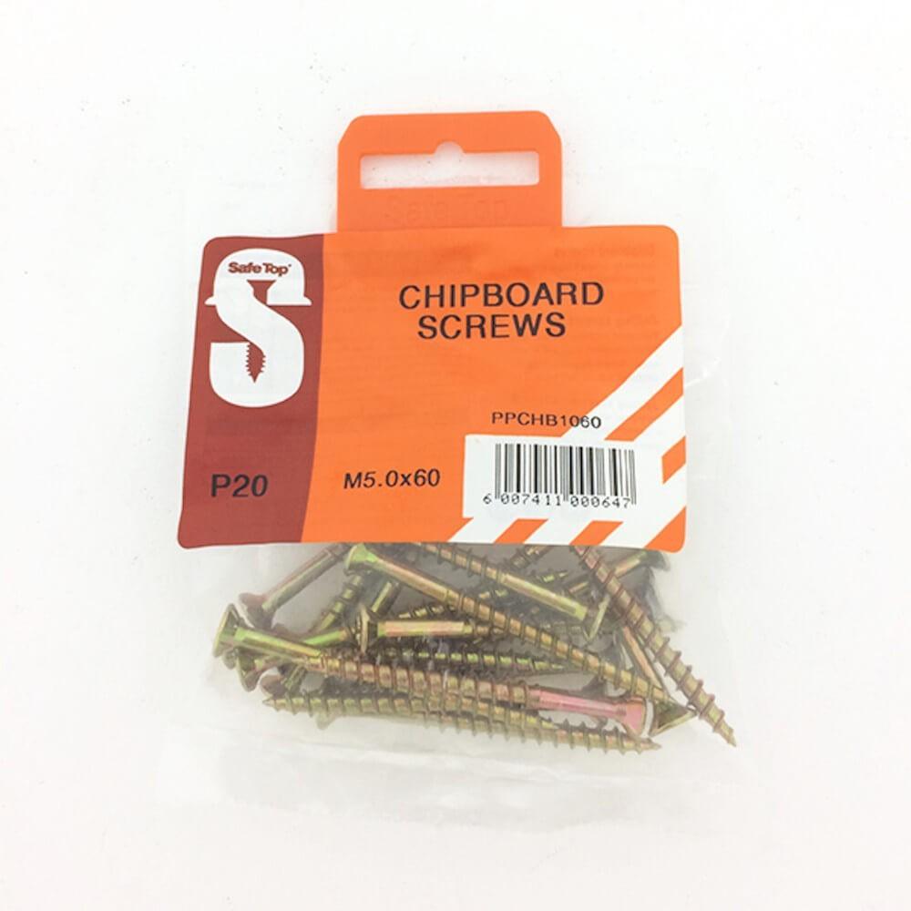 Pre Pack Chipboard Screws M5.0 X 60mm Quantity:20