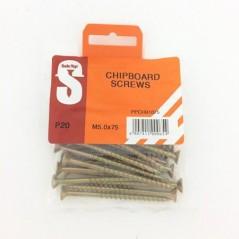Pre Pack Chipboard Screws M5.0 X 75mm Quantity:20