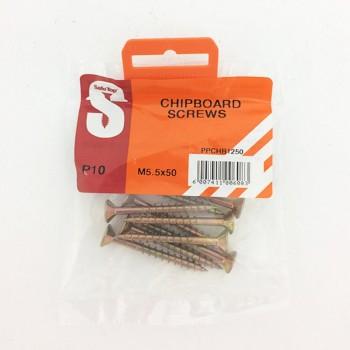 Pre Pack Chipboard Screws M5.5 X 50mm Quantity:10