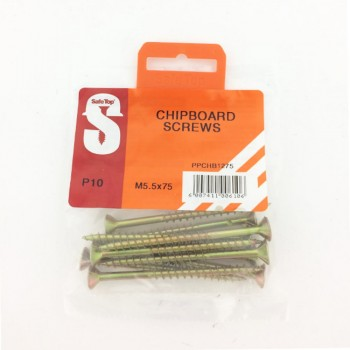 Pre Pack Chipboard Screws M5.5 X 75mm Quantity:10