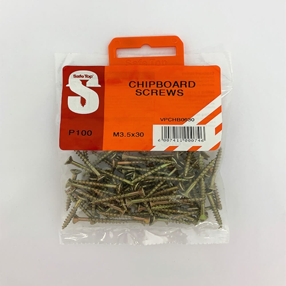 Value Pack Chipboard Screws M3.5 X 30mm Quantity:100