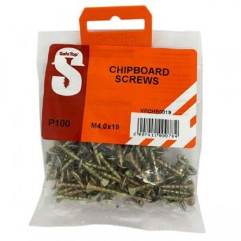Value Pack Chipboard Screws M4.0 X 19mm Quantity:100
