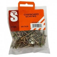 Value Pack Chipboard Screws M4.0 X 30mm Quantity:100