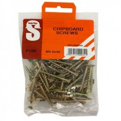 Value Pack Chipboard Screws M4.0 X 40mm Quantity:100