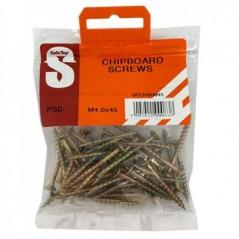 Value Pack Chipboard Screws M4.0 X 45mm Quantity:50