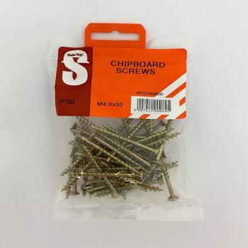 Value Pack Chipboard Screws M4.0 X 50mm Quantity:50