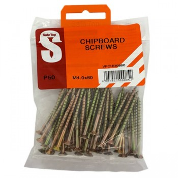 Value Pack Chipboard Screws M4.0 X 60mm Quantity:50