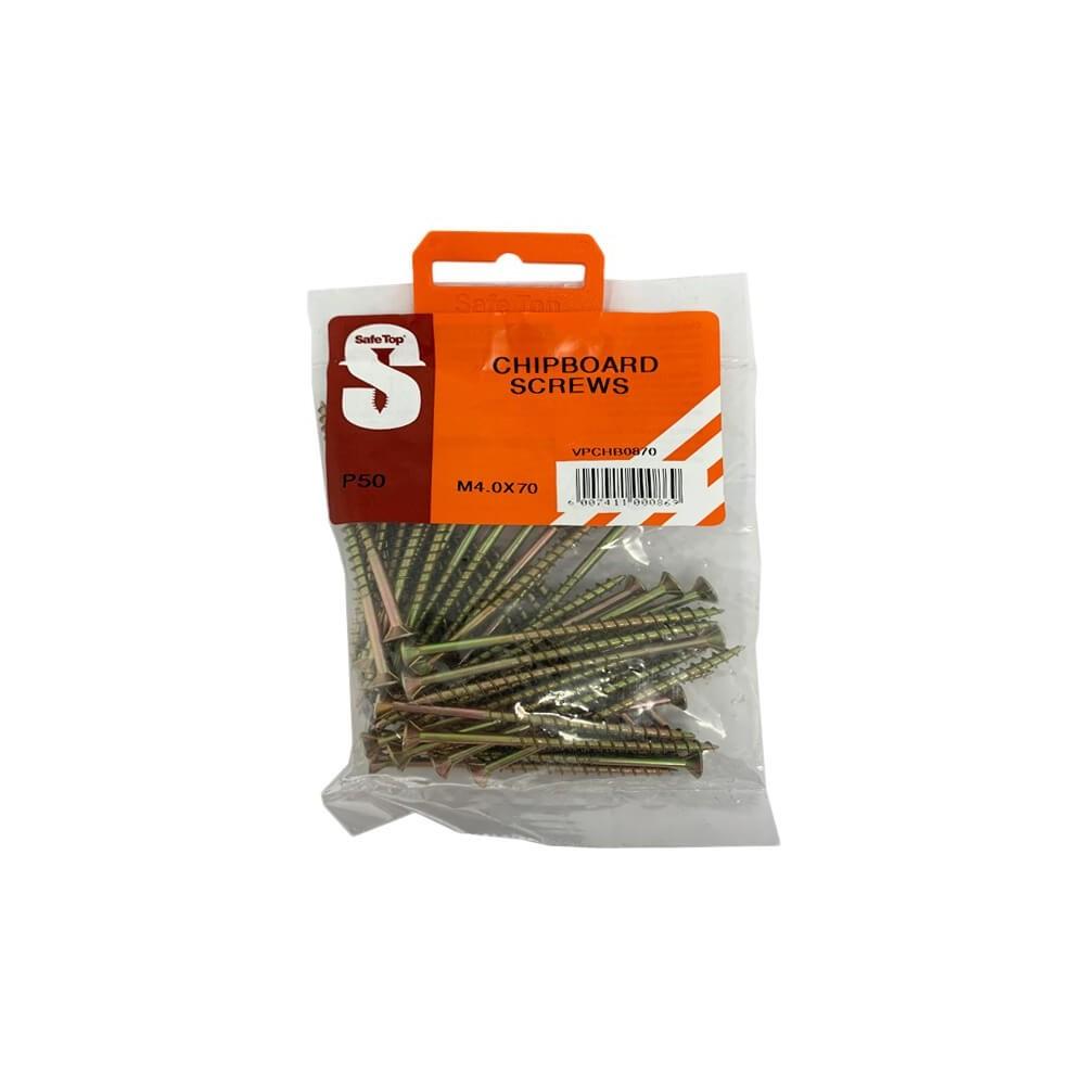 Value Pack Chipboard Screws M4.0 X 70mm Quantity:50