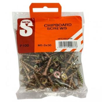 Value Pack Chipboard Screws M5.0 X 30mm Quantity:100