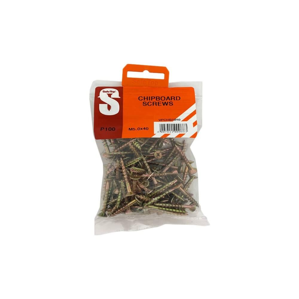 Value Pack Chipboard Screws M5.0 X 40mm Quantity:100