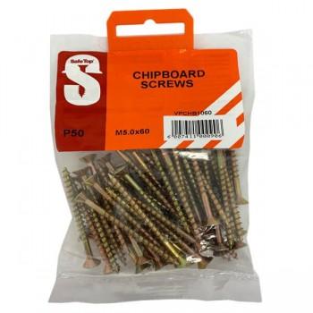 Value Pack Chipboard Screws M5.0 X 60mm Quantity:50