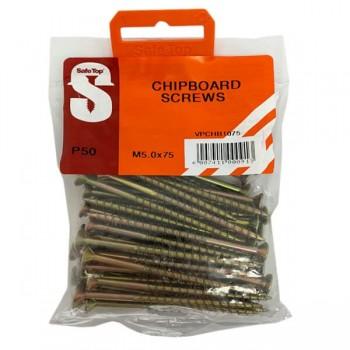 Value Pack Chipboard Screws M5.0 X 75mm Quantity:50
