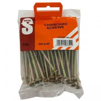 Value Pack Chipboard Screws M5.0 X 90mm Quantity:50