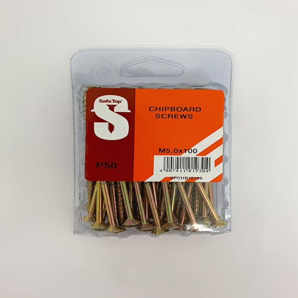 Value Pack Chipboard Screws M5.0 X 100mm Quantity:50