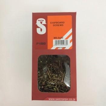 Svb Chipboard Screws M3.5 X 20mm Quantity:1000