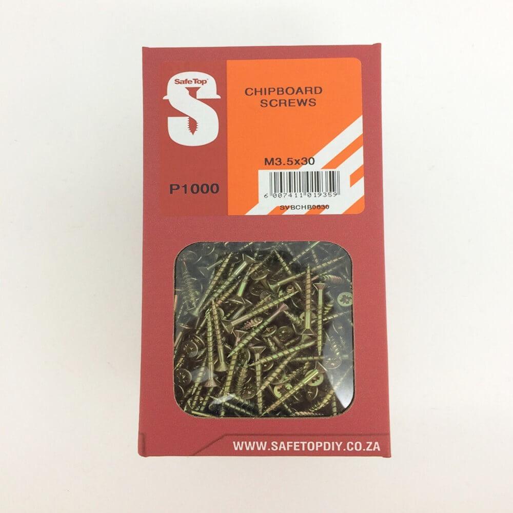 Svb Chipboard Screws M3.5 X 30mm Quantity:1000