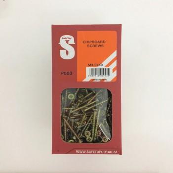 Svb Chipboard Screws M4.0 X 40mm Quantity:500