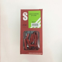 Svb Coach Screws & Plugs M6 X 75mm Quantity:100