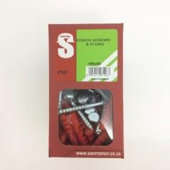 Svb Coach Screws & Plugs M8 X 60mm Quantity:50