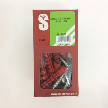 Svb Coach Screws & Plugs M10 X 60mm Quantity:40