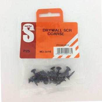 Pre Pack Drywall Screws Course M3.5 X 16mm Quantity:25