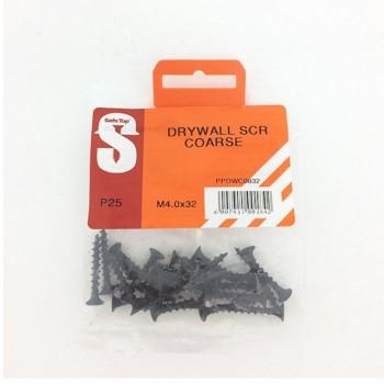 Pre Pack Drywall Screws Course M4.0 X 32mm Quantity:25
