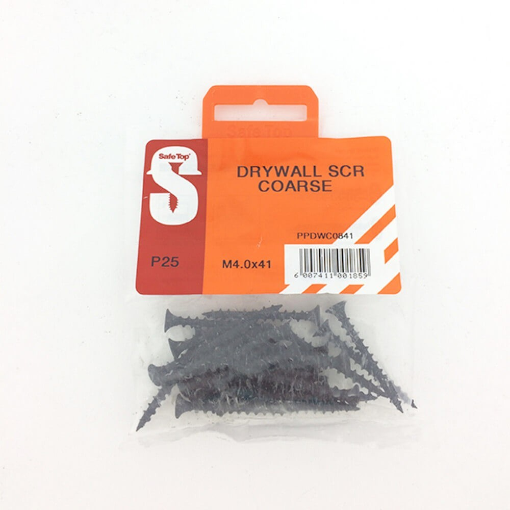 Pre Pack Drywall Screws Course M4.0 X 41mm Quantity:25