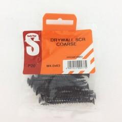 Pre Pack Drywall Screws Course M4.0 X 63mm Quantity:20